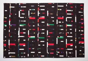 "Dots & Dashes - Series ""Black & Brights"" - 59"" X 86-1/2"""