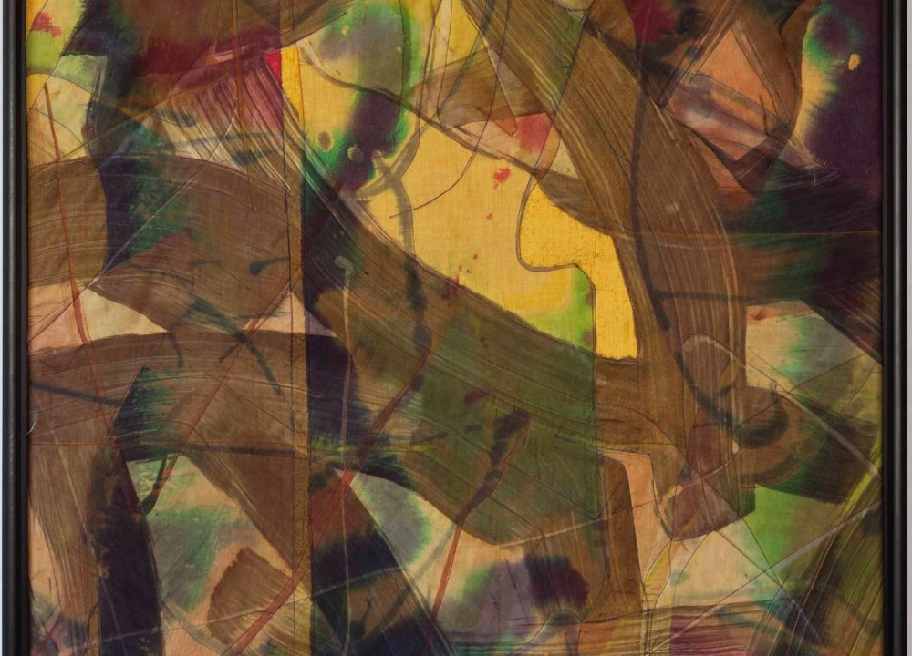 "Yellow Haze - Series ""Fabric Collage"" - 30"" X 30"""